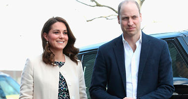 In this Thursday, March 22, 2018 file photo, Britain's Prince William and Kate, Duchess of Cambridge visit Sports Aid at the Copperbox Arena in London. Kensington Palace says Prince William's wife, the Duchess of Cambridge has entered a London hospital to