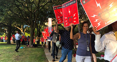 American Airline Flight Attendant Protest
