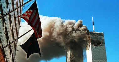 Smoke Pours From The World Trade Center After Being Hit By Two Planes September 11 2001