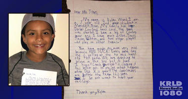 Kid writes letter to Cowboys owner Jerry Jones