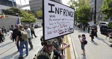 Right Wing, Left-Wing Protesters Face Off In Seattle