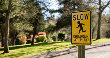 Slow, Children Playing Sign