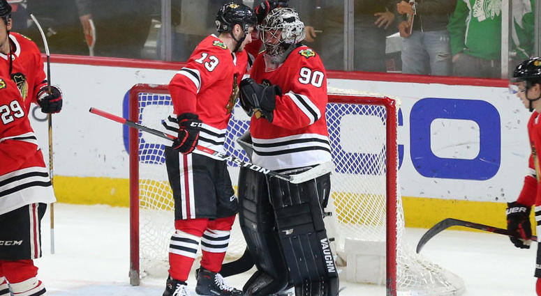 Chicago Blackhawks goalie Scott Foster