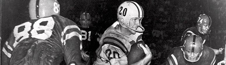 Oct. 31, 1959, file photo, Billy Cannon, Louisiana State University's All-America halfback