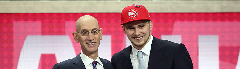 Luka Doncic With Adam Silver