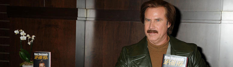 Actor Will Ferrell as Ron Burgundy