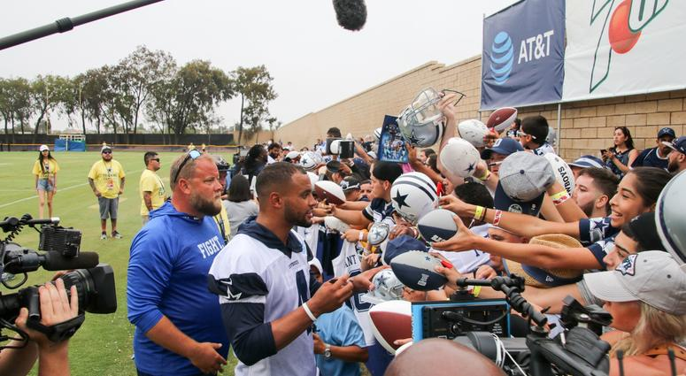 Dak Prescott At 2018 Dallas Cowboys Training Camp