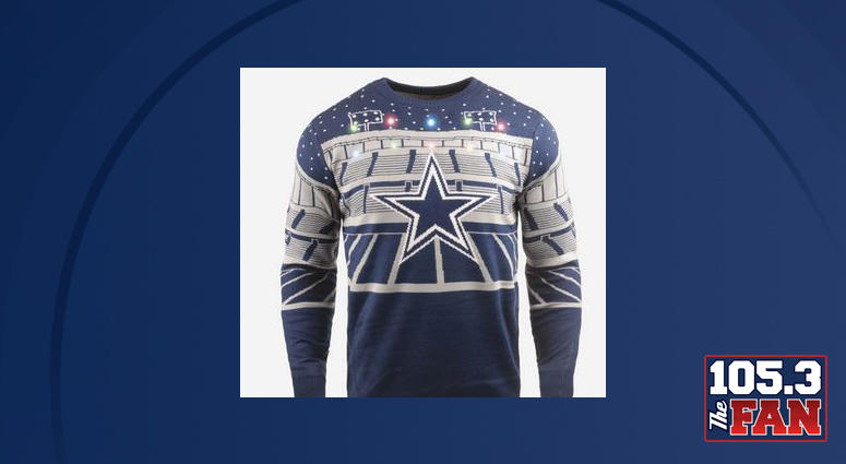 Get In The Holiday Spirit With A Cowboys Light Up Christmas Sweater