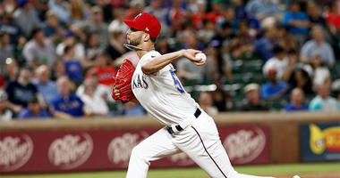 Texas Rangers pitcher Alex Claudio