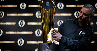 NCAA college football championship trophy