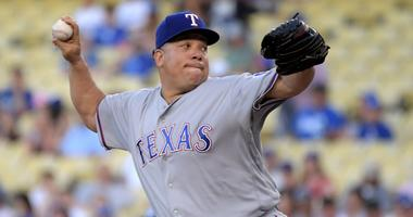 Texas Rangers starting pitcher Bartolo Colon