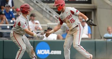 College World Series-Arkansas vs Texas Tech