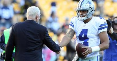 Dak Prescott and Jerry Jones