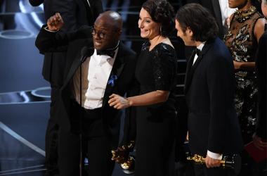 Feb 26, 2017; Hollywood, CA, USA; Barry Jenkins accepts the award for Best Picture for 'Moonlight' during the 89th Academy Awards at Dolby Theatre. Mandatory Credit: Robert Deutsch-USA TODAY NETWORK
