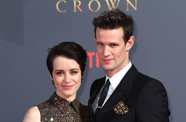 Claire Foy and Matt Smith from The Crown