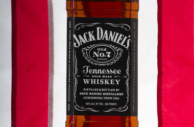 Jack Daniels, Bottle, American Flag, Background