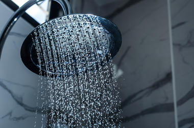 Shower Head, Water Drops