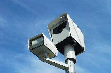 Speed Camera, Red Light Camera, Blue Sky