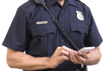 Police, Cop, Phone, Texting