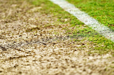 Damaged Soccer Field