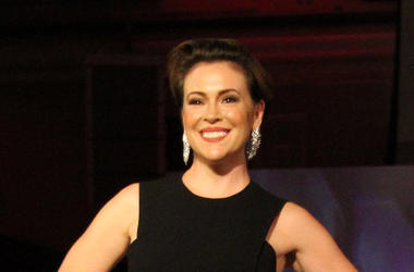 Alyssa Milano, Smile, Black Dress