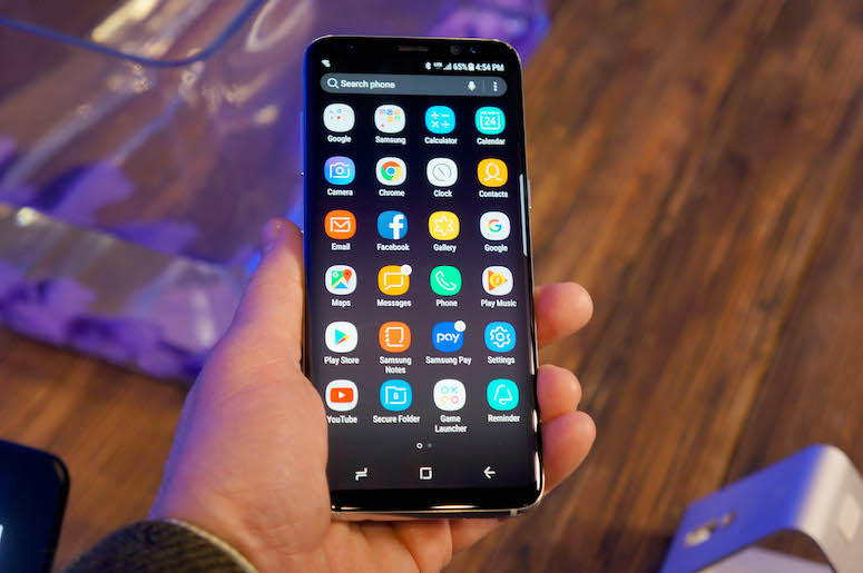 Samsung Galaxy S8, Phone, Home Screen, Apps
