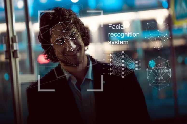 Man, Facial Recognition, Face Scan