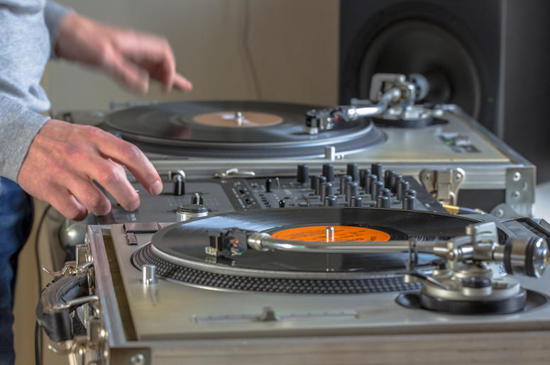 DJ, Turntable, Hands