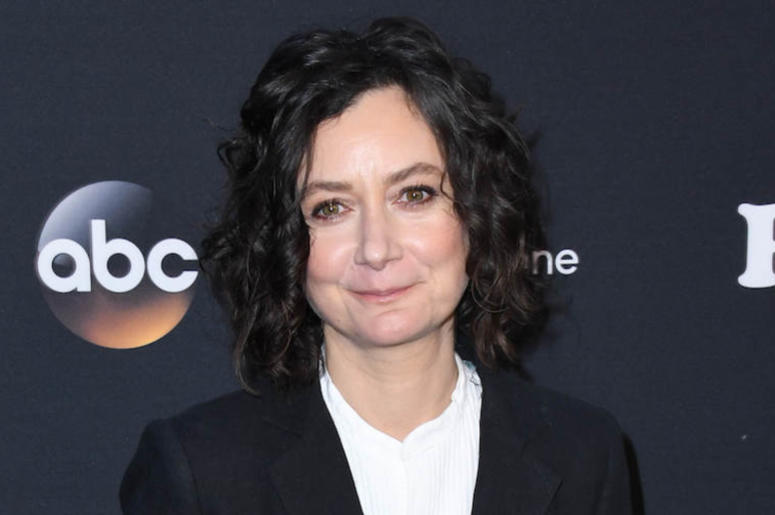 Sara Gilbert, Red Carpet, Suit, Smile