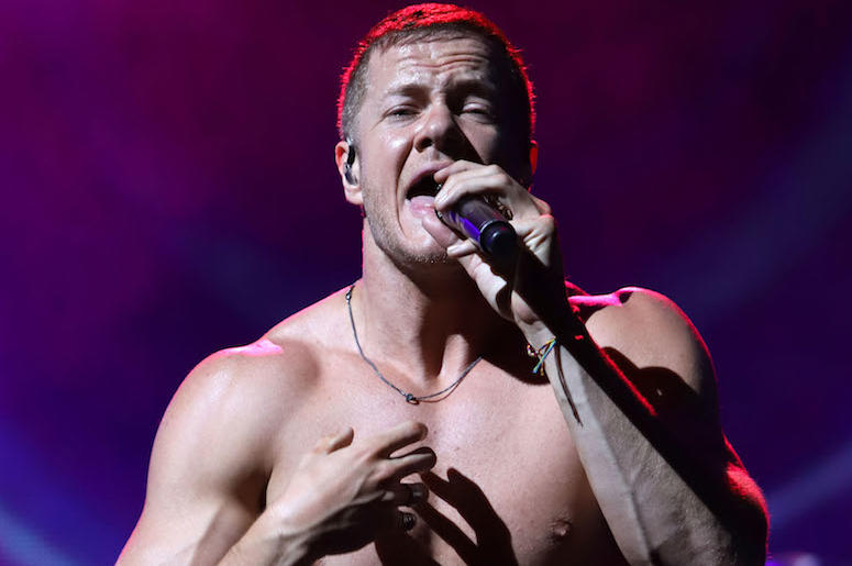 Dan Reynolds, Imagine Dragons, Concert, Singing, Shirtless, Madison Square Garden, 2018