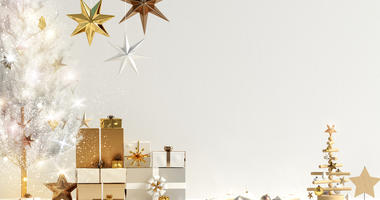 Modern Christmas interior, Scandinavian style. Room, colors.