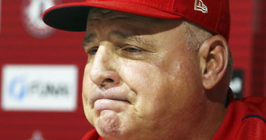 Los Angeles Angels manager Mike Scioscia