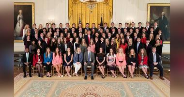 The White House is being criticized by some on social media for its predominantly white class of spring 2018 interns.