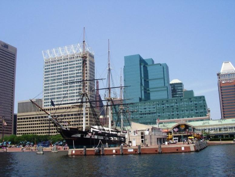 USS Constellation at Baltimore Inner Harbor