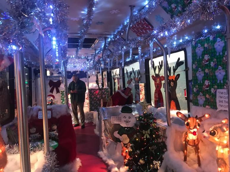 For the sixth year in a row, SEPTA's elves got to have some fun with their holiday bus decoration contest.