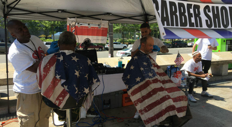 Among the services offered at Vet Fest 2018 was a space for veterans to get haircuts.