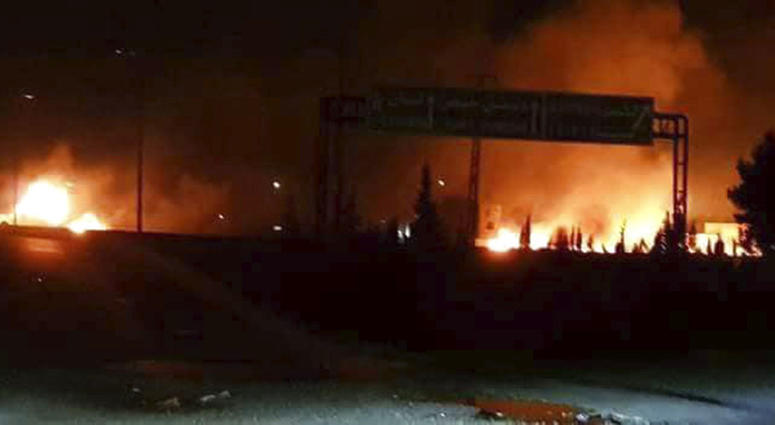 Syrian state-run media said Israel struck a military outpost near the capital Damascus, saying its air defenses intercepted and destroyed two incoming missiles. The reported attack came shortly after Trump announced his withdrawal from the Iran deal.