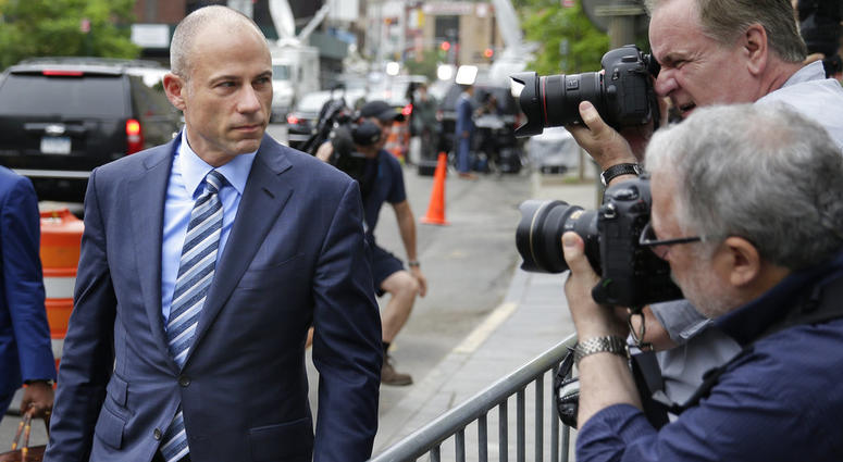 Michael Avenatti, attorney for Stormy Daniels, arrives to court in New York.