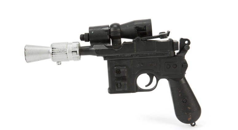 "Han Solo's BlasTech DL-44 blaster from the Star Wars trilogy film ""Return of the Jedi"""