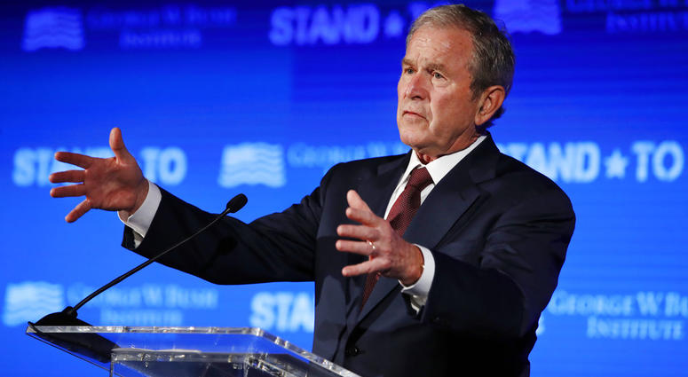 former president george w bush boosting republicans in places where