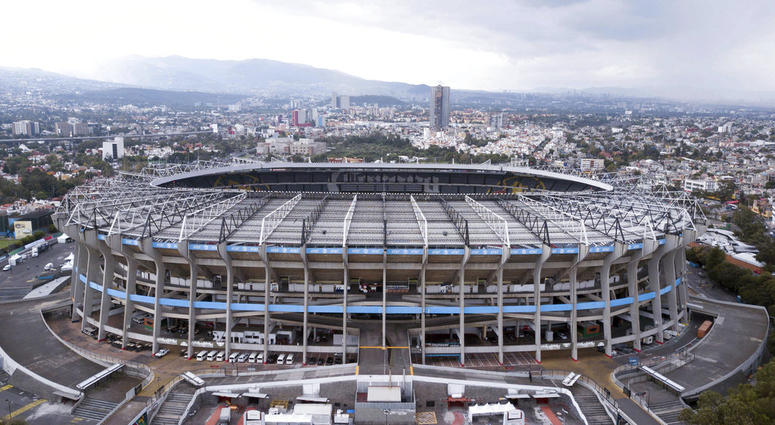 Mexico's Azteca Stadium is seen from above, in Mexico City, Tuesday, Nov. 13, 2018.