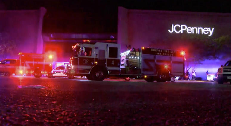 This Thursday, Nov. 22, 2018, image made from a video provided by ABC 33/40, authorities respond after reports of shots fired at the Riverchase Galleria in Hoover, a Birmingham, Ala., suburb.
