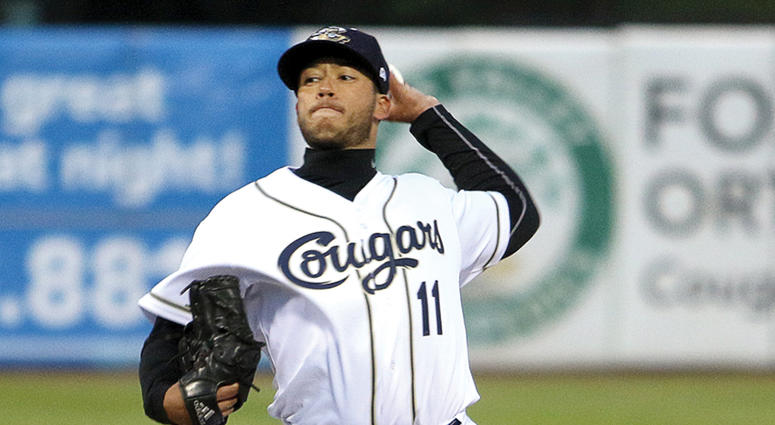 Abraham Almonte had a 2.41 ERA during his career at Division II Jefferson University (then known as Philadelphia University).