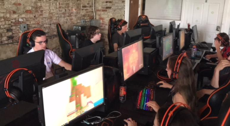 """The Philadelphia Fusion esports team is currently competing in The Overwatch League playoffs — a global esports league with city-based teams — where they play """"Overwatch,"""" a first-person shooter game."""