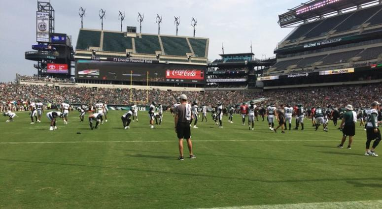 The Philadelphia Eagles are shown at Lincoln Financial Field.