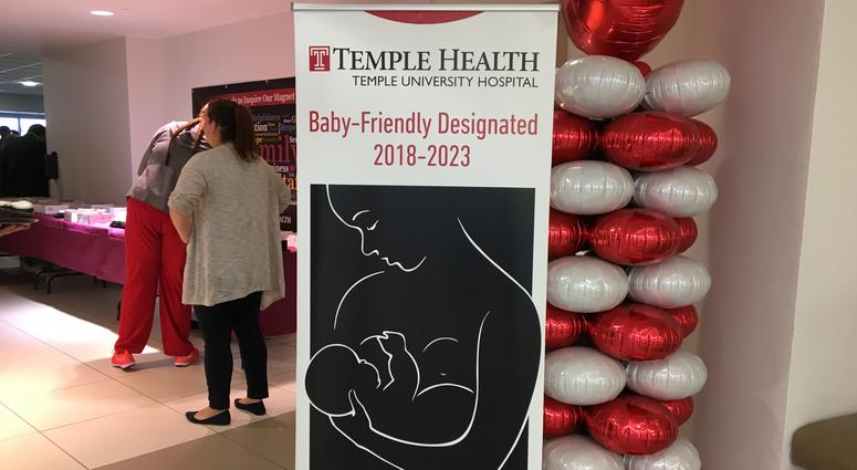 Temple University Hospital celebrated their new designation Wednesday as a so-called baby-friendly birth facility.