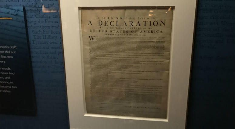 Just in time for Fourth of July weekend, a rare copy of the Declaration of Independence will be on display at the Museum of the American Revolution.