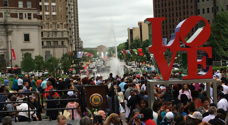 The new LOVE Park is officially open.