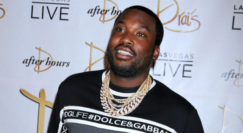 Meek Mill attends the launch of Exclusive Drai Live Concert Residency at Drai's Nightclub, Las Vegas on July 7, 2018.