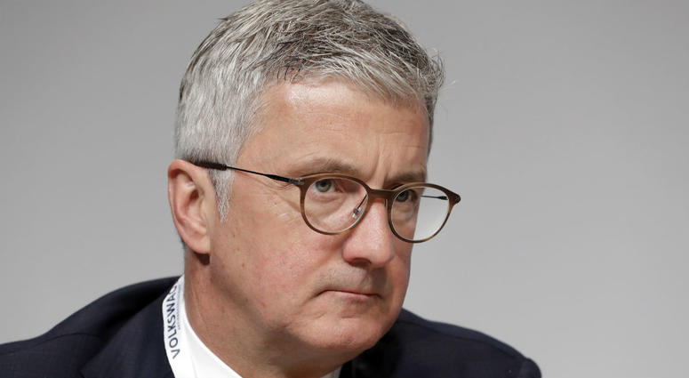 In this Thursday, May 3, 2018 file photo, Rupert Stadler, CEO of Audi AG, attends the shareholders' meeting of the Volkswagen stock company in Berlin, Germany.
